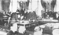 凡尔赛条约签订场景